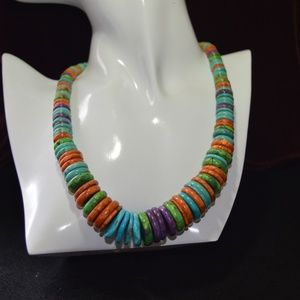 Jay King Disc Necklace with Mojave Turquoise